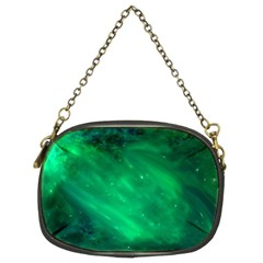 Green Space All Universe Cosmos Galaxy Chain Purses (two Sides)