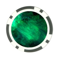 Green Space All Universe Cosmos Galaxy Poker Chip Card Guard (10 Pack)