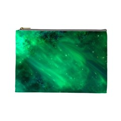 Green Space All Universe Cosmos Galaxy Cosmetic Bag (large)