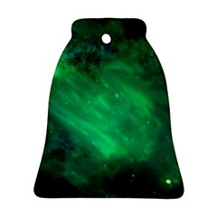 Green Space All Universe Cosmos Galaxy Bell Ornament (two Sides)