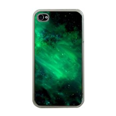 Green Space All Universe Cosmos Galaxy Apple Iphone 4 Case (clear)