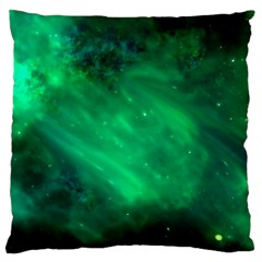 Green Space All Universe Cosmos Galaxy Large Cushion Case (one Side)