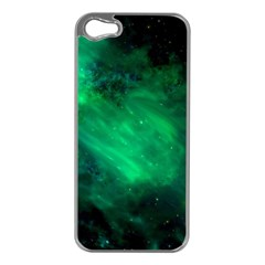 Green Space All Universe Cosmos Galaxy Apple Iphone 5 Case (silver)