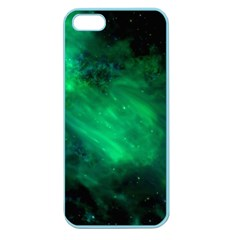 Green Space All Universe Cosmos Galaxy Apple Seamless Iphone 5 Case (color)