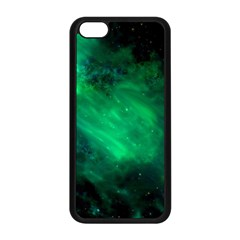Green Space All Universe Cosmos Galaxy Apple Iphone 5c Seamless Case (black)