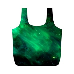 Green Space All Universe Cosmos Galaxy Full Print Recycle Bags (m)