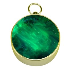 Green Space All Universe Cosmos Galaxy Gold Compasses
