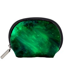 Green Space All Universe Cosmos Galaxy Accessory Pouches (small)