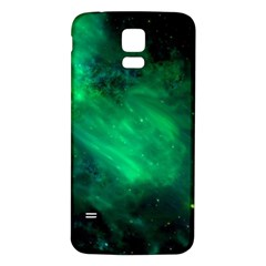 Green Space All Universe Cosmos Galaxy Samsung Galaxy S5 Back Case (white)