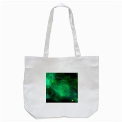 Green Space All Universe Cosmos Galaxy Tote Bag (white)