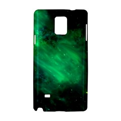 Green Space All Universe Cosmos Galaxy Samsung Galaxy Note 4 Hardshell Case