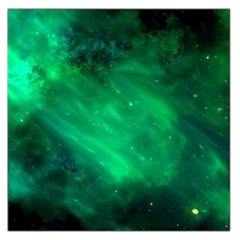 Green Space All Universe Cosmos Galaxy Large Satin Scarf (square)