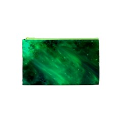 Green Space All Universe Cosmos Galaxy Cosmetic Bag (xs)