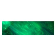 Green Space All Universe Cosmos Galaxy Satin Scarf (oblong)