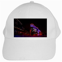 Moscow Night Lights Evening City White Cap