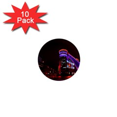 Moscow Night Lights Evening City 1  Mini Magnet (10 Pack)