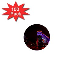 Moscow Night Lights Evening City 1  Mini Magnets (100 Pack)