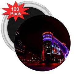 Moscow Night Lights Evening City 3  Magnets (100 Pack)