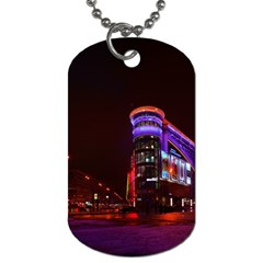 Moscow Night Lights Evening City Dog Tag (two Sides)