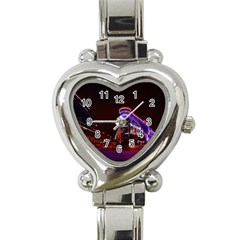 Moscow Night Lights Evening City Heart Italian Charm Watch