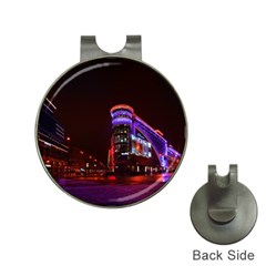 Moscow Night Lights Evening City Hat Clips With Golf Markers