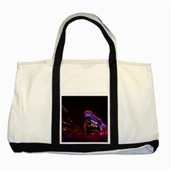Moscow Night Lights Evening City Two Tone Tote Bag