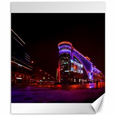 Moscow Night Lights Evening City Canvas 8  X 10