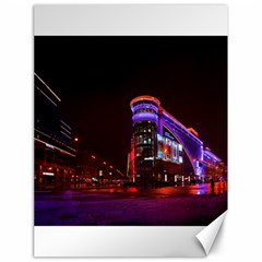 Moscow Night Lights Evening City Canvas 18  X 24
