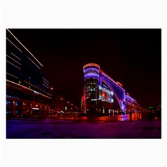 Moscow Night Lights Evening City Large Glasses Cloth (2 Side)
