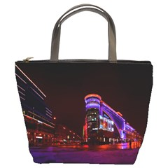 Moscow Night Lights Evening City Bucket Bags