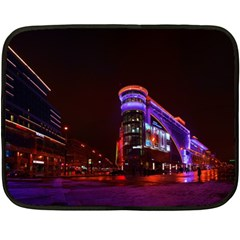 Moscow Night Lights Evening City Double Sided Fleece Blanket (mini)