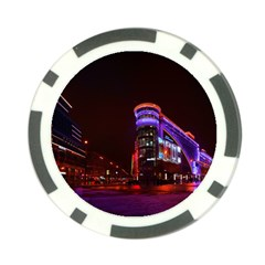 Moscow Night Lights Evening City Poker Chip Card Guard (10 Pack)