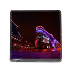 Moscow Night Lights Evening City Memory Card Reader (square)