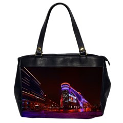 Moscow Night Lights Evening City Office Handbags (2 Sides)