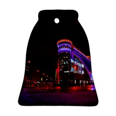 Moscow Night Lights Evening City Bell Ornament (two Sides)