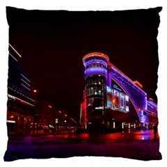 Moscow Night Lights Evening City Large Cushion Case (one Side)