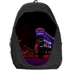 Moscow Night Lights Evening City Backpack Bag