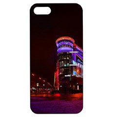 Moscow Night Lights Evening City Apple Iphone 5 Hardshell Case With Stand