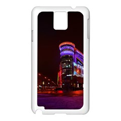 Moscow Night Lights Evening City Samsung Galaxy Note 3 N9005 Case (white)