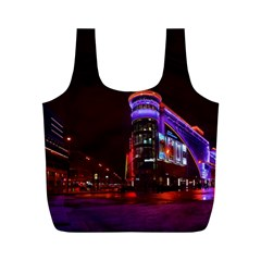 Moscow Night Lights Evening City Full Print Recycle Bags (m)