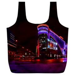 Moscow Night Lights Evening City Full Print Recycle Bags (l)