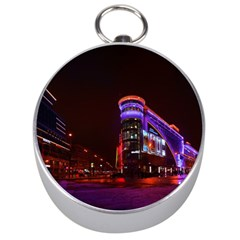 Moscow Night Lights Evening City Silver Compasses