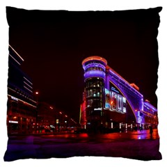 Moscow Night Lights Evening City Large Flano Cushion Case (one Side)
