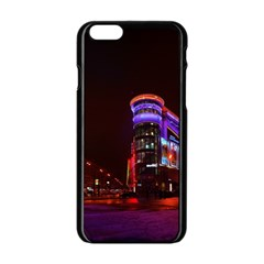 Moscow Night Lights Evening City Apple Iphone 6/6s Black Enamel Case