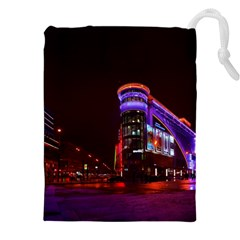 Moscow Night Lights Evening City Drawstring Pouches (xxl)