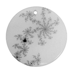 Mandelbrot Apple Males Mathematics Round Ornament (two Sides)