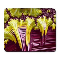 Yellow Magenta Abstract Fractal Large Mousepads