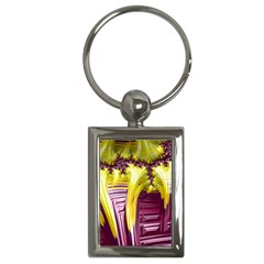 Yellow Magenta Abstract Fractal Key Chains (rectangle)