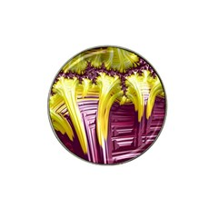 Yellow Magenta Abstract Fractal Hat Clip Ball Marker