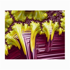 Yellow Magenta Abstract Fractal Small Glasses Cloth (2 Side)